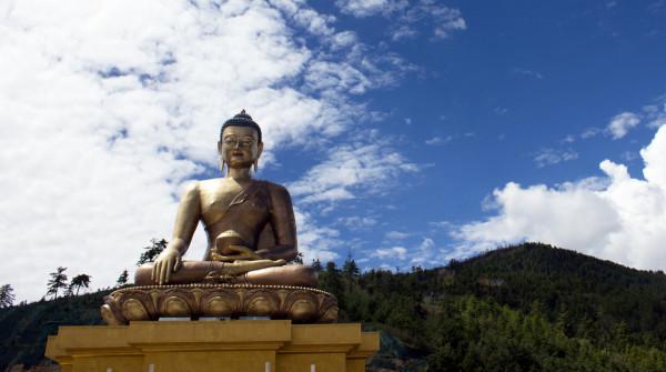 A monk statue, Bhutan