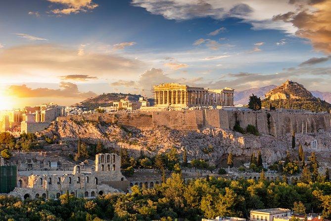 Athens at sunset