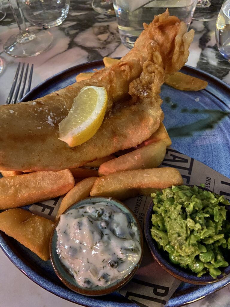 Fish and Chips at Plate Restaurant