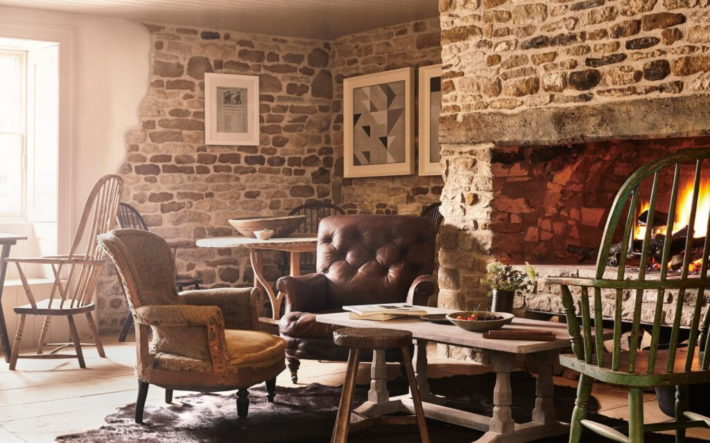 The Wild Rabbit Cotswolds Fireplace